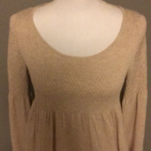fitted and knoted Tops - Tan fitted Top